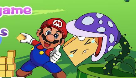 mario logs flash game